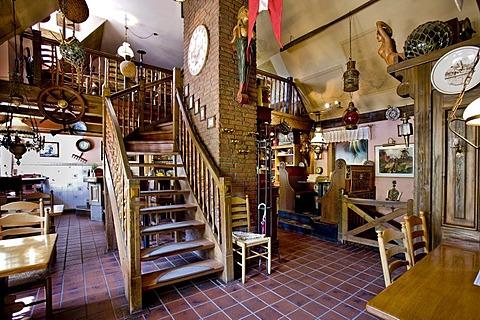 Restaurant Seekiste, village of Nebel, Amrum, North Frisia, Schleswig-Holstein, Germany, Europe