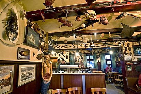 """Glaube, Liebe, Hoffnung"" pub, Wyk, Foehr, North Frisia, Schleswig-Holstein, Germany"