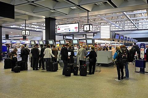 Check-in hall, Zurich Airport, Switzerland, Europe