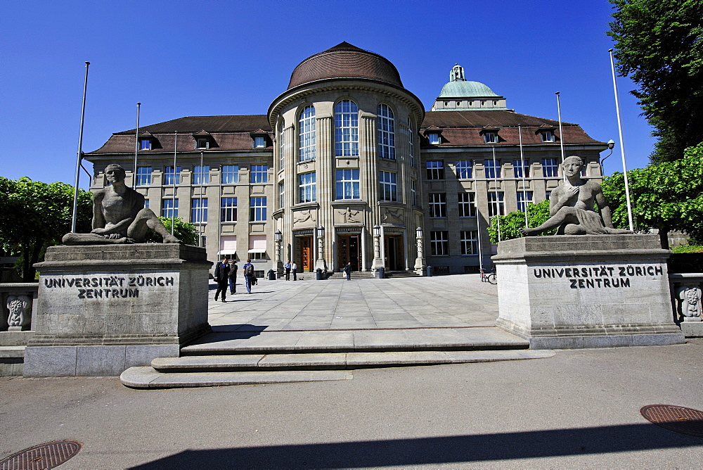 Entrance to the University of Zurich, Switzerland, Europe