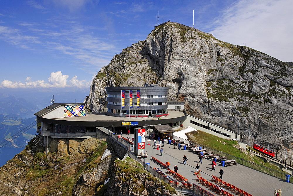Hotel Bellevue on Mount Pilatus, popular tourist's destination, near Lucerne, Switzerland, Europe