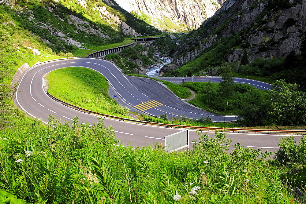 Gotthard Pass in the canton of Uri, Switzerland, Europe