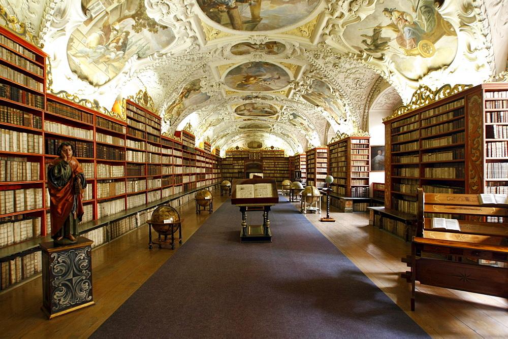Library of the Strahov Monastery, Prague, Bohemia, Czech Republic, Eastern Europe