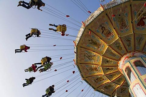Chairoplane on Canstatter festival, Cannstatter Wasen, Bad-Cannstatt, Stuttgart, Baden-Wuerttemberg, Germany