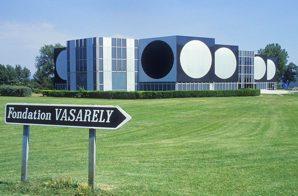 Fondation Vasarely, Victor Vasarely, art museum, Aix-en-Provence, Provence, France, Europe