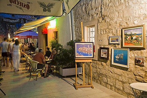 Alley in the historic centre, Rab, Rab Island, Istria, Croatia, Europe
