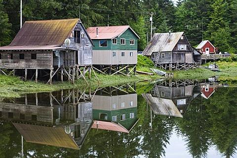 Fishing Huts in Petersburg, Inside Passage, Alaska, USA