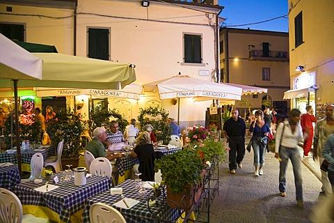 Nightlife in Marina di Campo, Elba, Tuscany, Italy, Europe