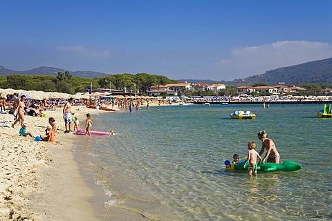 Beach of Marina di Campo, Elba, Tuscany, Italy, Mediterranean, Europe