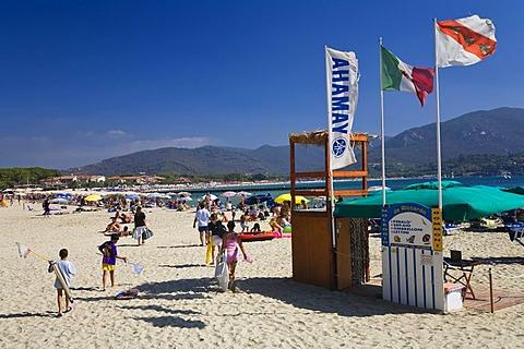 Beach at Marina di Campo, Elba, Tuscany, Italy, Mediterranean, Europe