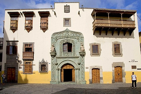 Casa Colon, colonial architecture in the Vegueta district, Las Palmas, Grand Canary, Canary Islands, Spain, Europe