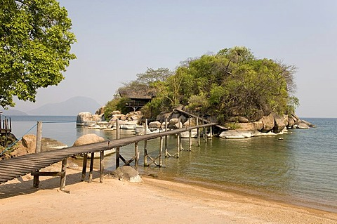 Mumbo Island Camp, Cape Maclear Peninsula, Lake Malawi, Malawi, South East Africa