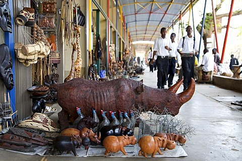 African souvenirs, Livingstone, Southern Province, Republic of Zambia, Africa