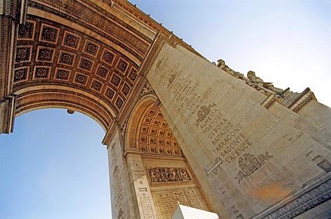 Arc de Triomphe, triumphal arch, Paris, France, Europe