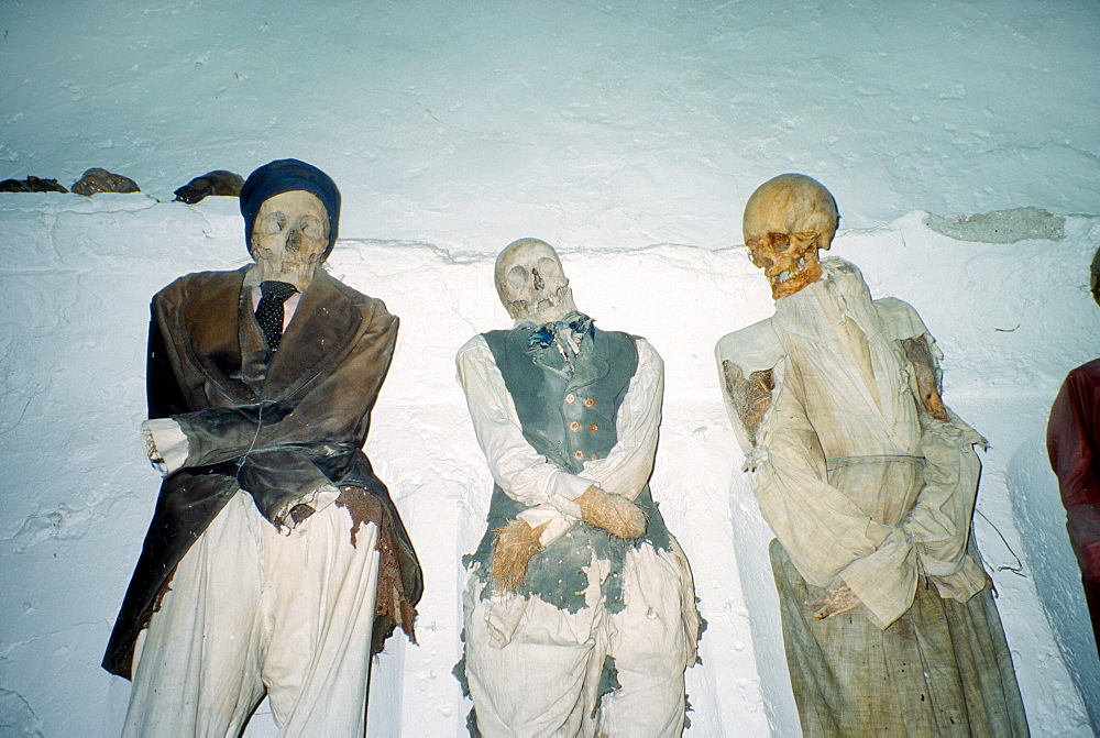Mummies, catacombs of the Capuchins, Capuchin crypt in Palermo, Sicily, Italy, Europe