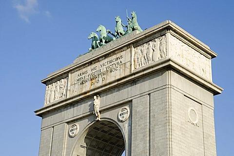 Arco de la Victoria, triumphal arch, Moncloa, Madrid, Spain, Europe