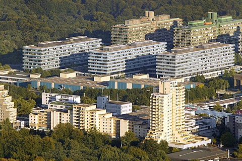 Aerial view of the Ruhr University Querenburg, Bochum, Ruhr Area, North Rhine-Westphalia, Germany, Europe