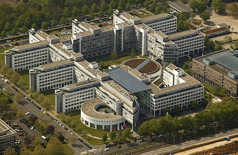 Government quarter, T-Com headquarters, headquarters of the Deutsche Post AG, Bonn, North Rhine-Westphalia, Germany, Europe