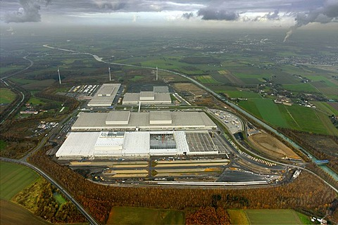 Aerial picture, logistics centre of IKEA Europe, Ellinghausen, Dortmund, Ruhr area, North Rhine-Westphalia, Germany, Europe