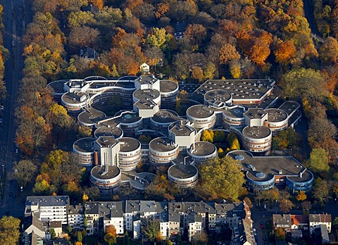 Aerial picture, Duisburg/Essen University, campus, Duisburg, Ruhr area, North Rhine-Westphalia, Germany, Europe