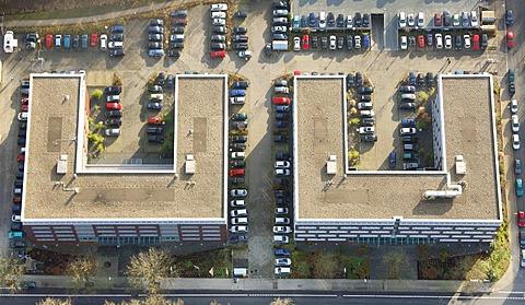 Aerial photo, business park Dienstleistungspark Trimonte, Bochum, Ruhr Area, North Rhine-Westphalia, Germany, Europe