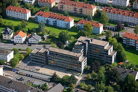 Aerial photo, tax office, Arnsberg, Hochsauerlandkreis, Sauerland, North Rhine-Westphalia, Germany, Europe