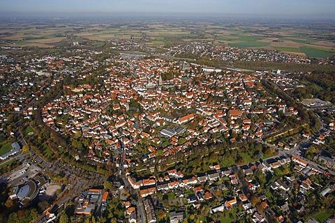 Aerial photo, city ring, city center, Soest, Kreis Soest, Soester Boerde, South Westphalia, North Rhine-Westphalia, Germany, Europe