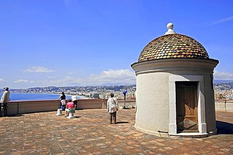 Sentry-box, Tower la Tour Bellanda, Nice, Alpes-Maritimes, Provence-Alpes-Cote d'Azur, Southern France, France, Europe