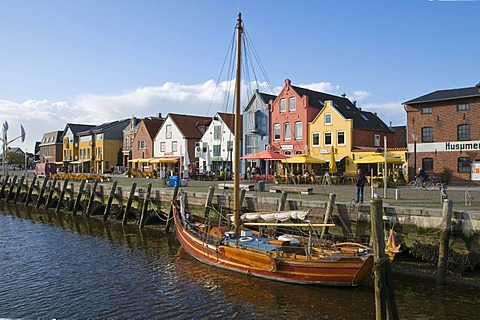 The inland port of Husum, North Frisia, Schleswig-Holstein, Germany, Europe