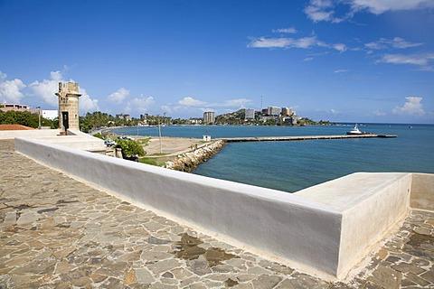 "The fort of ""Castillo de San Carlos Borromeo"", Spanish military architecture, Pampatar, Margarita Island, Caribbean, Venezuela, South America"