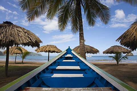Bow of a boat, Playa Medina, beach, Venezuela, Caribbean, South America