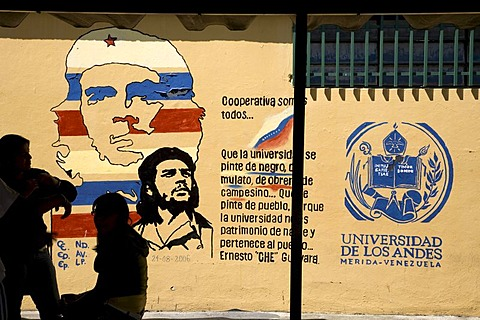 Universidad de Los Andes, University of the Andes, portrait of Che Guevara on a wall, Merida, Venezuela, South America