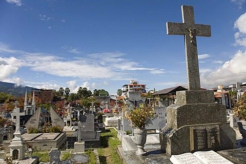 Graves on main cemetery of Merida, Venezuela, South America