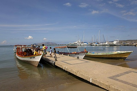 Tour boat, marina of Puerto La Cruz, Caribbean, Venezula, South America