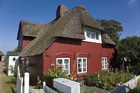 Frisian House in the Nebel Community, Amrum Island, North Frisia, Schleswig-Holstein, Germany, Europe