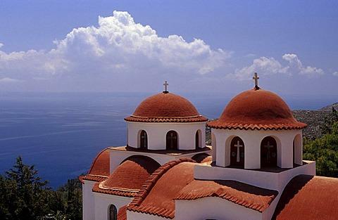 Agios Savvas Monastery, near Pothia, Klaymnos, Greece, Europe