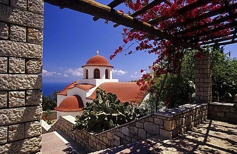 Agios Savvas Monastery, near Pothia, Klaymnos Island, Greece, Europe