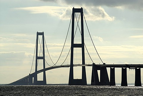 Store Belt bridge connects Funen and Zealand, Denmark, Europe