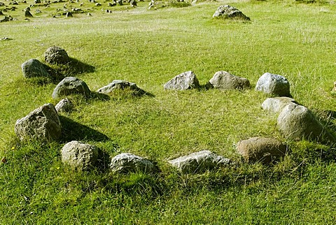 Cemetery from the Iron Age and Viking age Lindholm Hoje near Aalborg, Jutland, Denmark, Europe