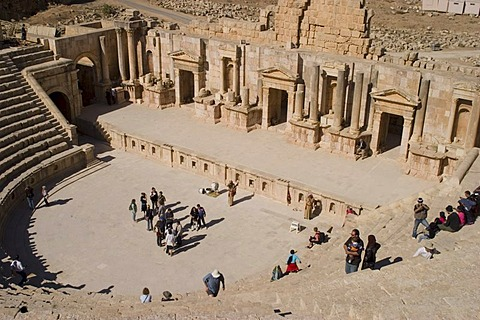 North Theatre, Jerash, Jordan, Southwest Asia