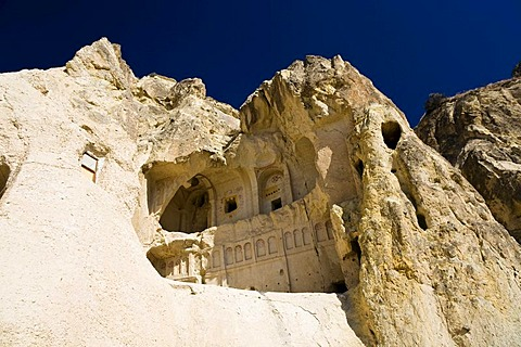Rock church in Goereme open air museum and UNESCO World Heritage Site, Cappadocia, Central Anatolia, Turkey, Asia