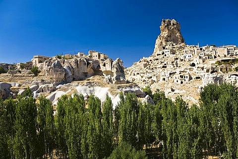 Ortahisar Fortress, Cappadocia, Central Anatolia, Turkey, Asia