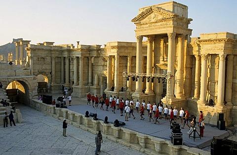 Roman theatre, Palmyra, Syria, Middle East, Orient