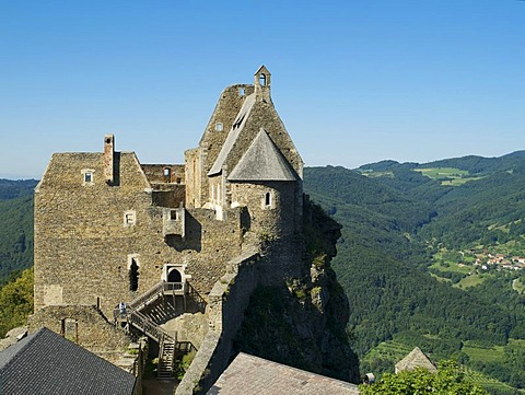 Aggstein ruins, Aggsbach, Wachau region, Lower Austria, Austria, Europe