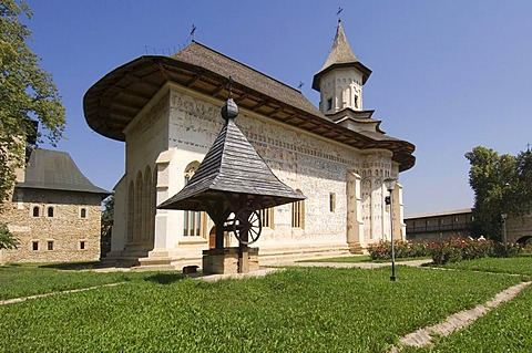 Church of St Nicholas of the Probota Monastery, UNESCO World Heritage Site, South Bucovina, Moldavia, Romania, Europe