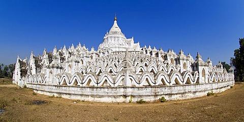 Hsinbyume or Myatheindan Pagoda, Mingun, Burma, Myanmar, Southeast Asia