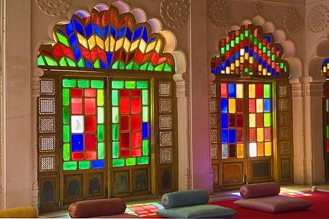Moti Mahal or Pearl Palace, Mehrangarh Fort, Jodhpur, Rajasthan, India, South Asia
