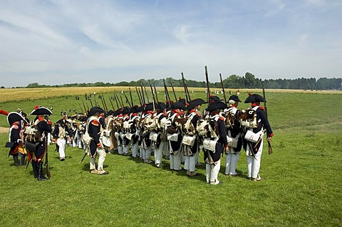 8th Napoleonic bivouac, reproduction of the historical Battle of Waterloo in 1815, Waterloo, Brabant, Belgium