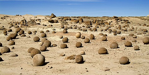 Cancha de bochas, bowling field, Ischigualasto, Valle de la Luna, Valley of the Moon, UNESCO World Heritage Site, El Gusano, San Juan Province, Argentina
