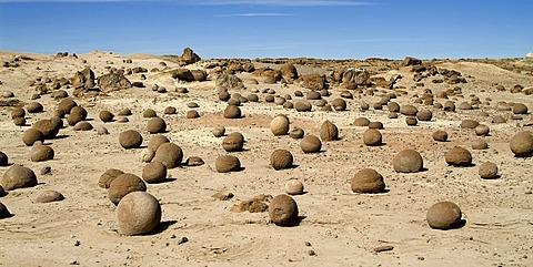 Cancha de bochas, bowling field, Ischigualasto, Valle de la Luna, Valley of the Moon, UNESCO World Heritage Site, El Gusano, San Juan Province, Argentina